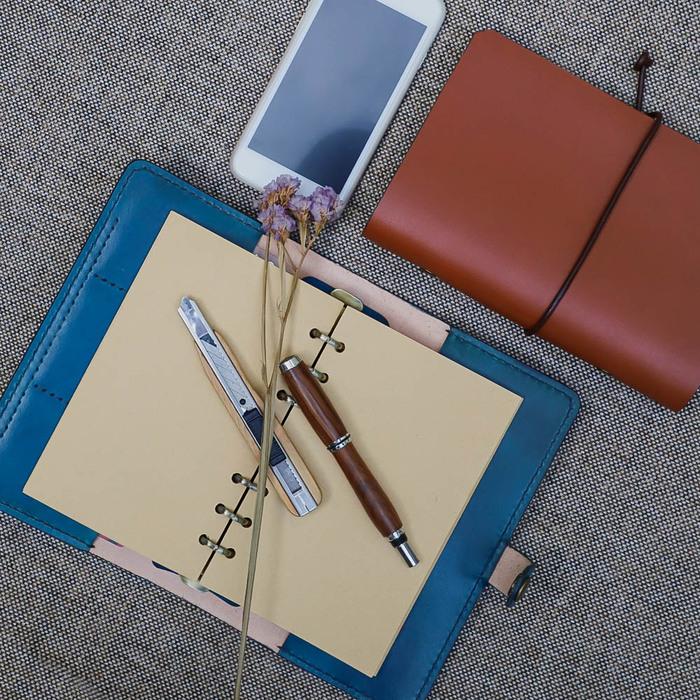 (複製)DUAL|真皮手縫筆袋/筆筒帶著走(原色植鞣皮)