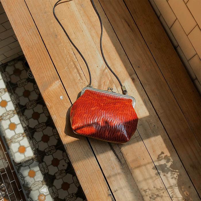 (複製)DUAL|皮革復古口金包 (樹紋咖)