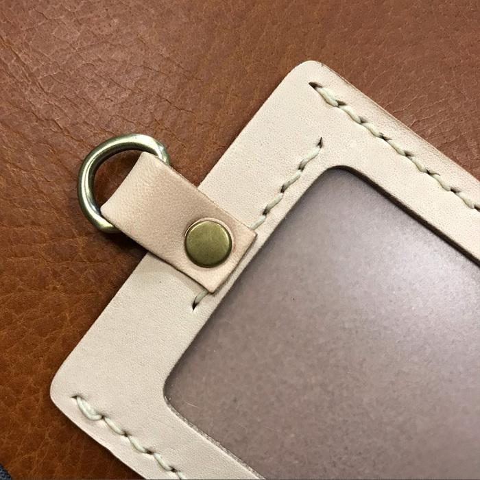 DUAL|真皮手縫簡約直式證件套(氣質紅)