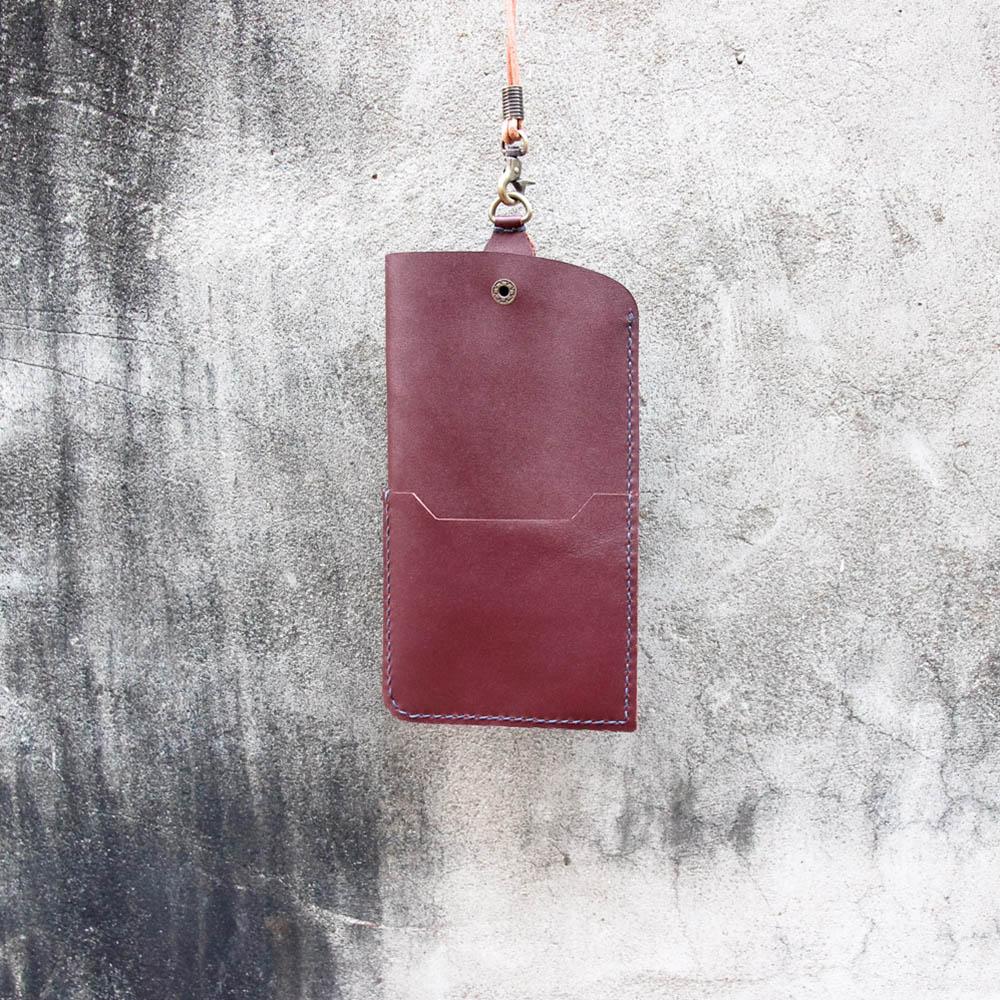 DUAL|多功能兩用手機袋-磚紅(5.5吋以上使用)