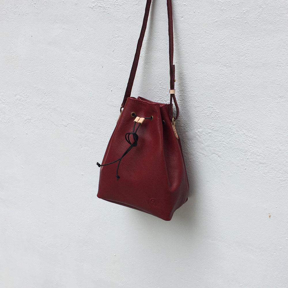 DUAL|皮革水桶包(磚紅)