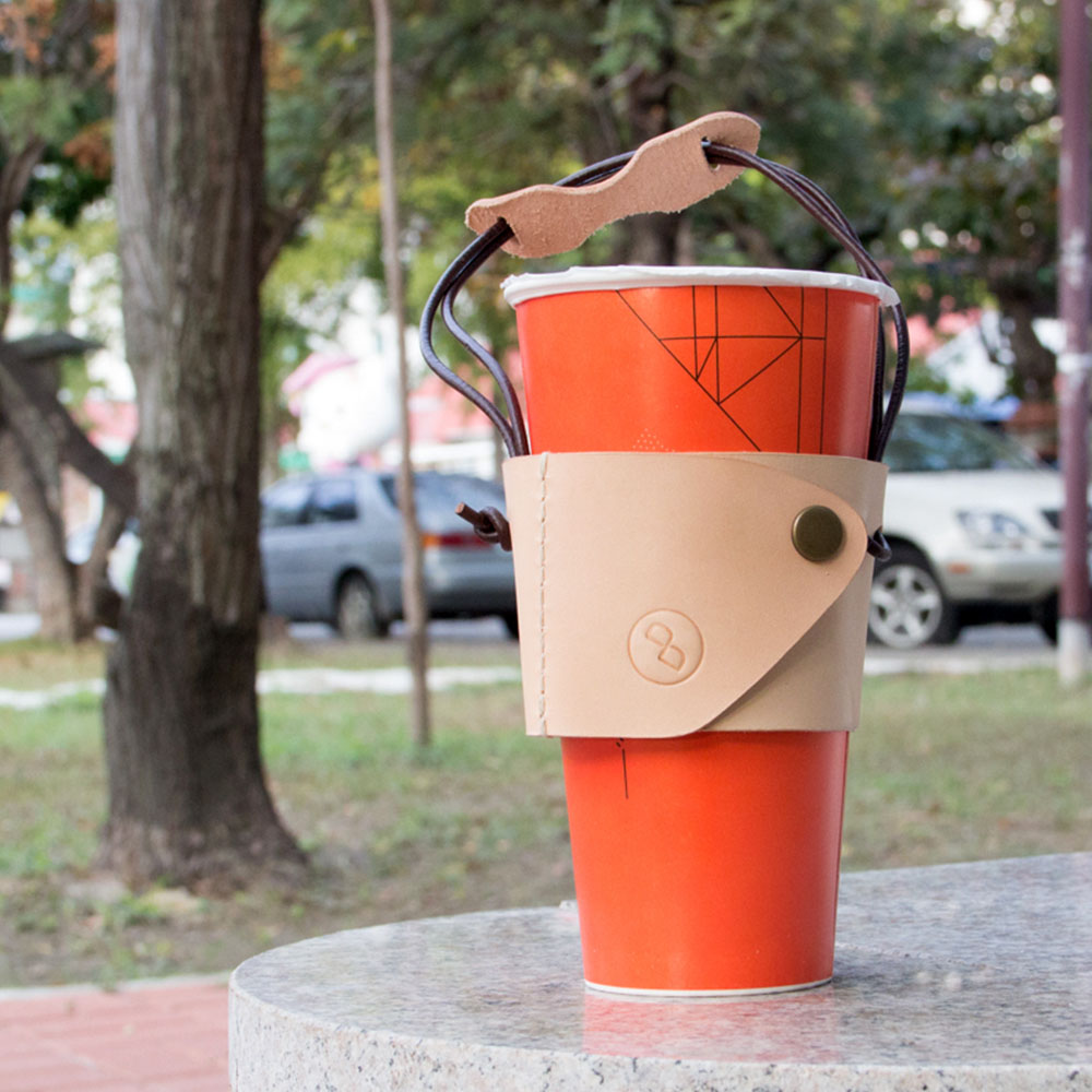 DUAL | 皮革環保杯套 (飲料杯。咖啡杯。胖胖杯) 皆適用