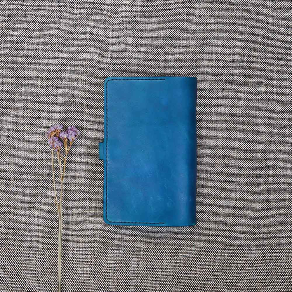 DUAL|植鞣手作長壽手帳 - A6 手染藍