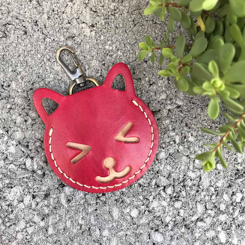 DUAL|Gogoro 皮套。鑰匙套 (紫紅)