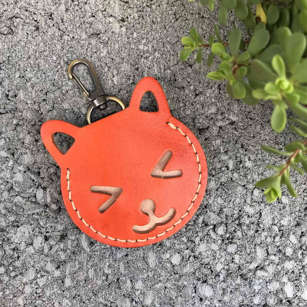 DUAL|Gogoro 皮套。鑰匙套 (橙)