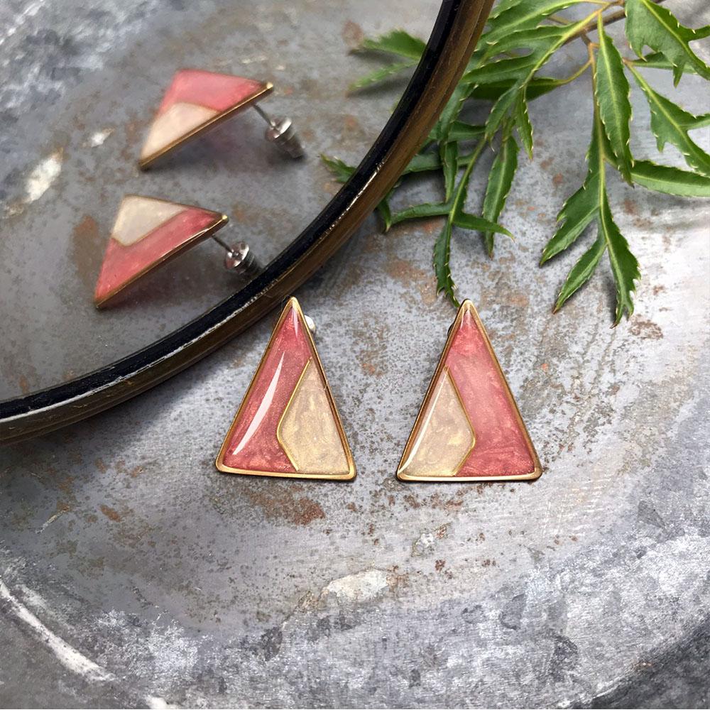 DUAL|復古派對/耳環-衫(紅)