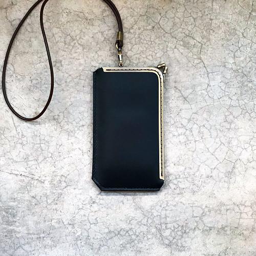 DUAL|L 型淑女口金手機套 (手拿包) - 質感黑