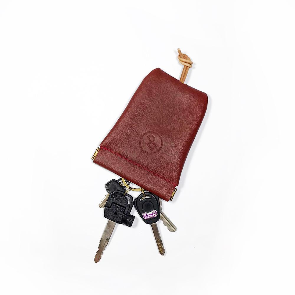 DUAL 大容量彈口鑰匙包 (大) - 荔枝紅