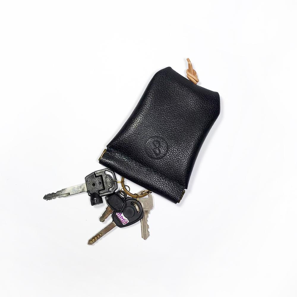 DUAL|大容量彈口鑰匙包 (大) - 黑