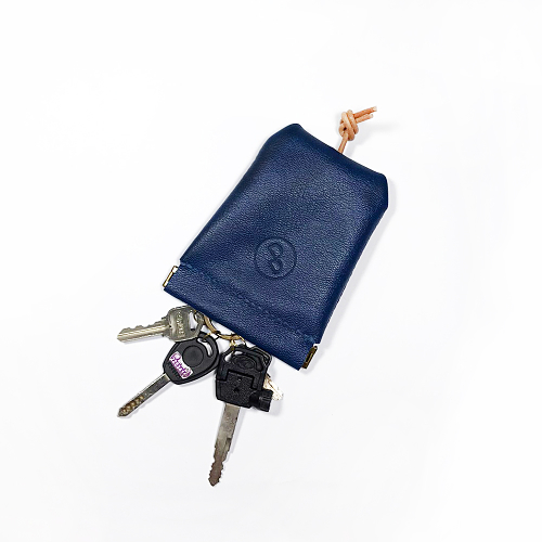 DUAL|大容量彈口鑰匙包 (大) - 藍