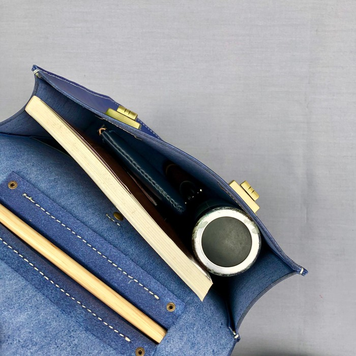 DUAL|木芯後背包 - 海軍藍