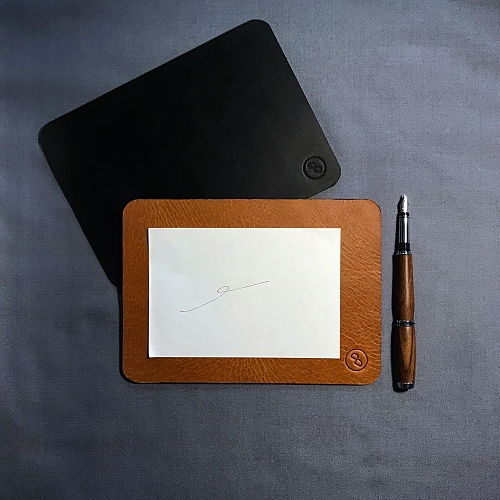 DUAL|醇厚牛皮寫字墊(滑鼠墊) - 手感棕