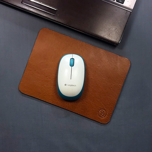 DUAL 醇厚牛皮寫字墊(滑鼠墊) - 手感棕