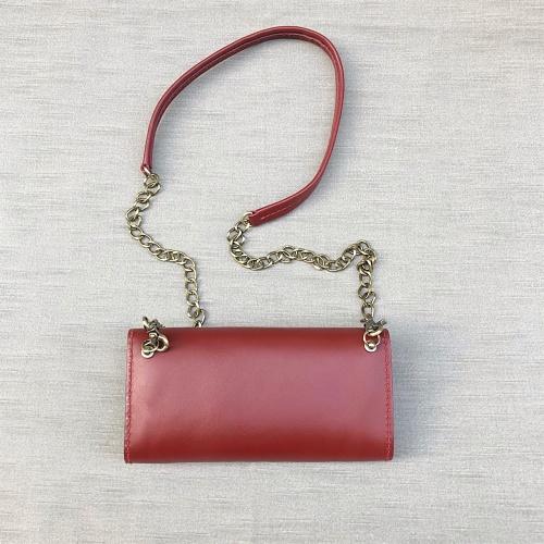 DUAL|淑女斜背小包 - 紅酒紅
