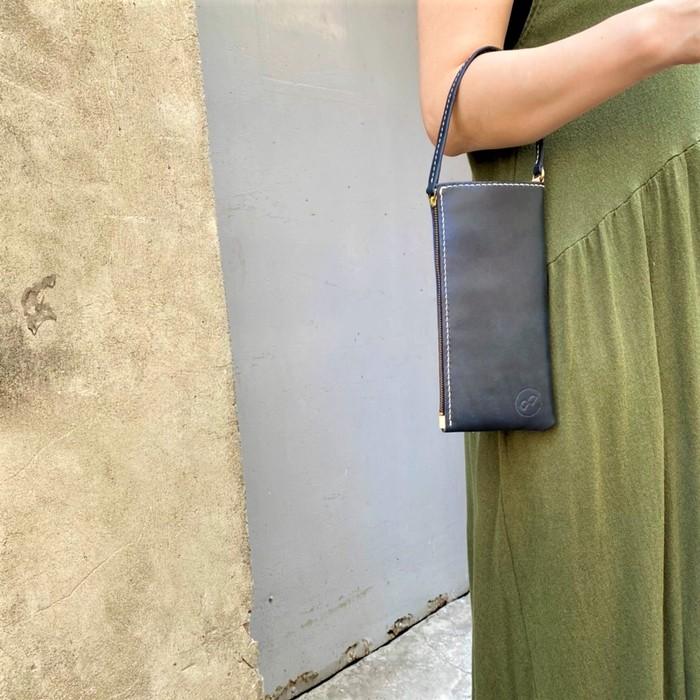 DUAL|淑女拉鍊長夾 (手拿包) - 典雅藍