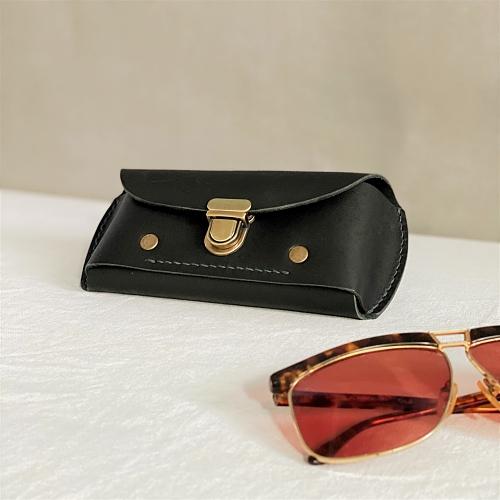 DUAL|皮革紳士兩用眼鏡盒/筆袋-優雅黑