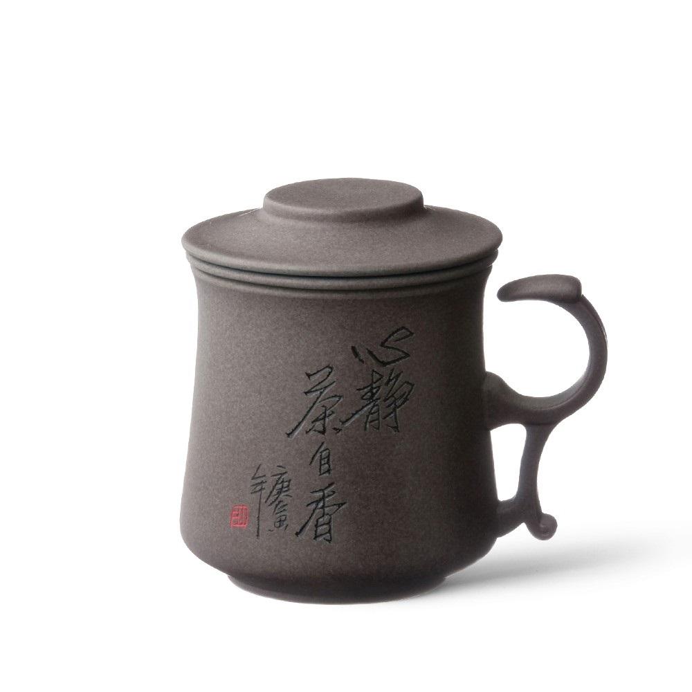 陶作坊|題字同心杯(墨泥/棕點/段泥/粉彩)系列