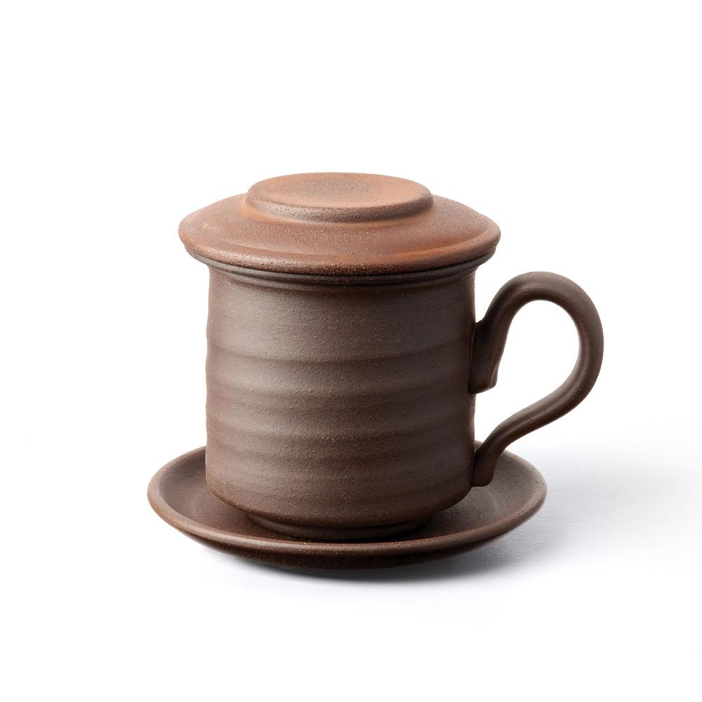 陶作坊|老岩泥素面同心杯