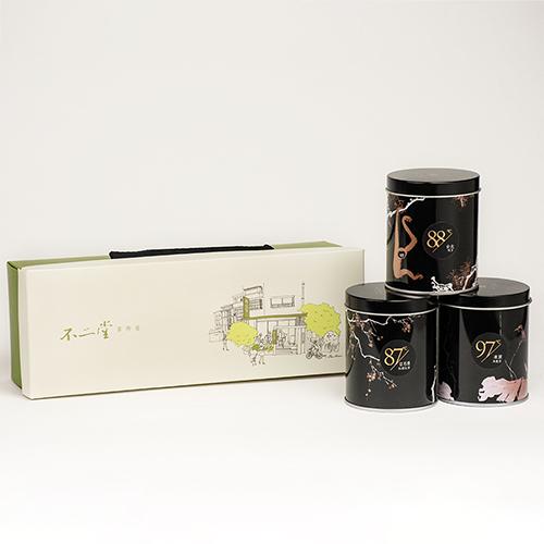 陶作坊x不二堂 原葉小茶罐3入(紅韻+北綠+凍頂)