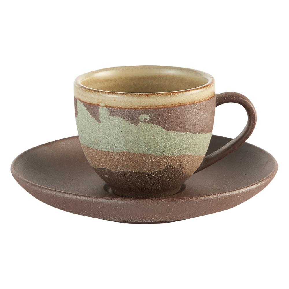 陶作坊xAurli 品咖啡│老岩泥岩礦咖啡杯-隨心杯(碧波)