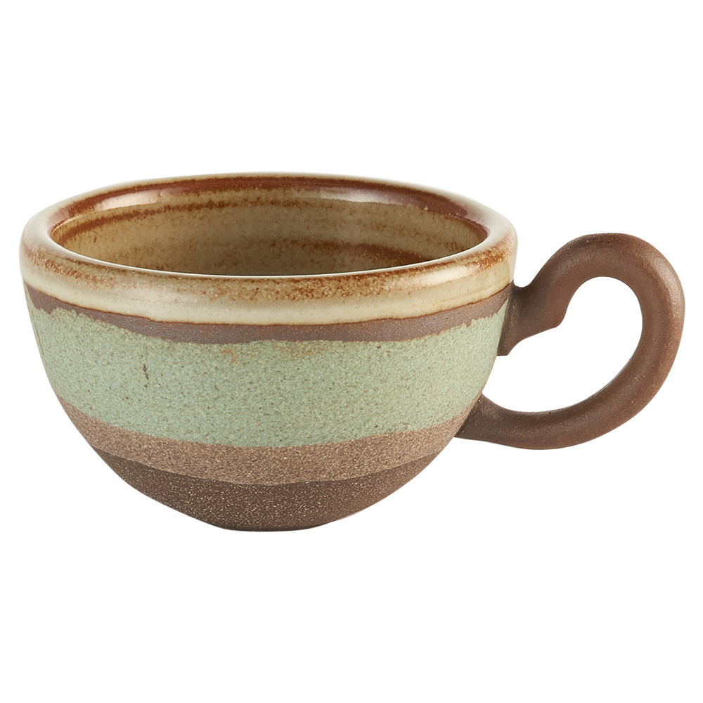 陶作坊xAurli 品咖啡│老岩泥岩礦咖啡杯-圓滿杯(碧波)