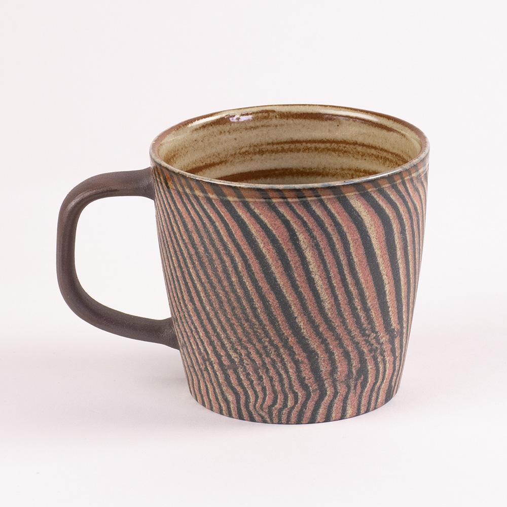 陶作坊xAurli 品咖啡│老岩泥岩礦咖啡杯-滿溢杯(阡陌)