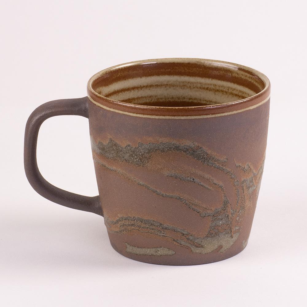 陶作坊xAurli 品咖啡│老岩泥岩礦咖啡杯-滿溢杯(太初)