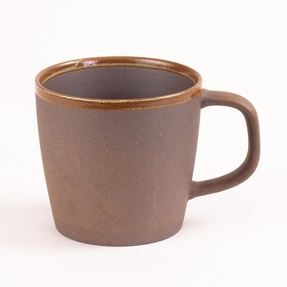 陶作坊xAurli 品咖啡│老岩泥岩礦咖啡杯-滿溢杯(點釉)