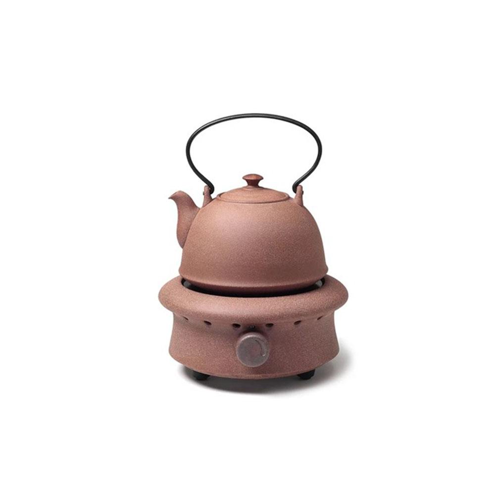 陶作坊|老岩泥九式燒水壺電陶茶爐組(不含木櫃)