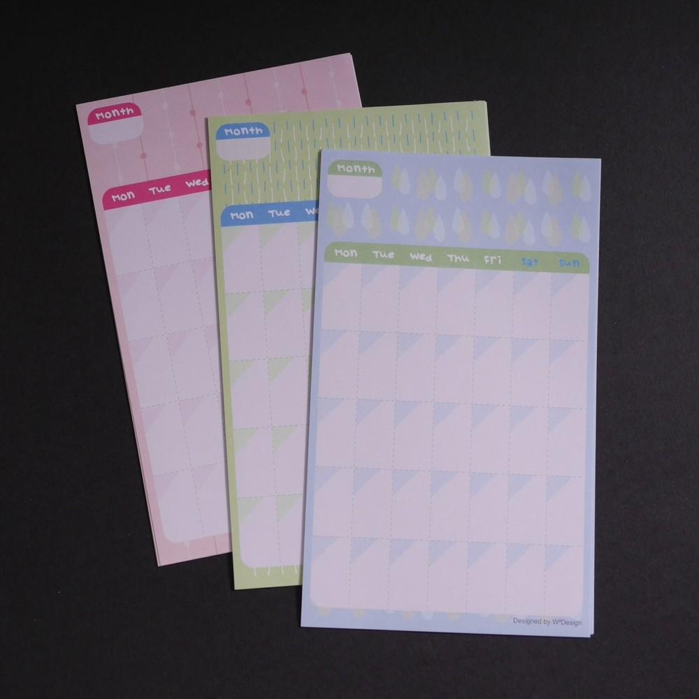 W2Design|青春歲月DIY手帳月曆貼x12枚 (二組)