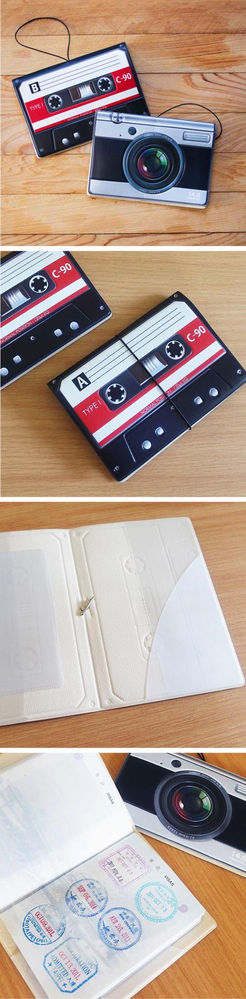 HeadphoneDog|錄音帶相機造型護照證件夾