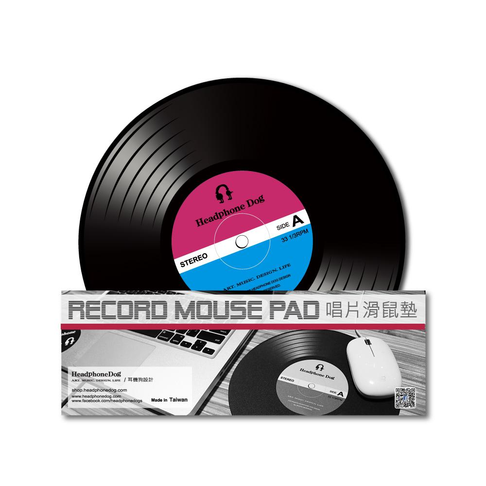 HeadphoneDog|DJ唱片造型滑鼠墊