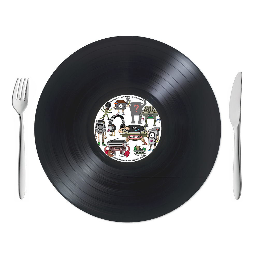 HeadphoneDog|唱片造型桌墊/餐墊/點心墊一組(2入)