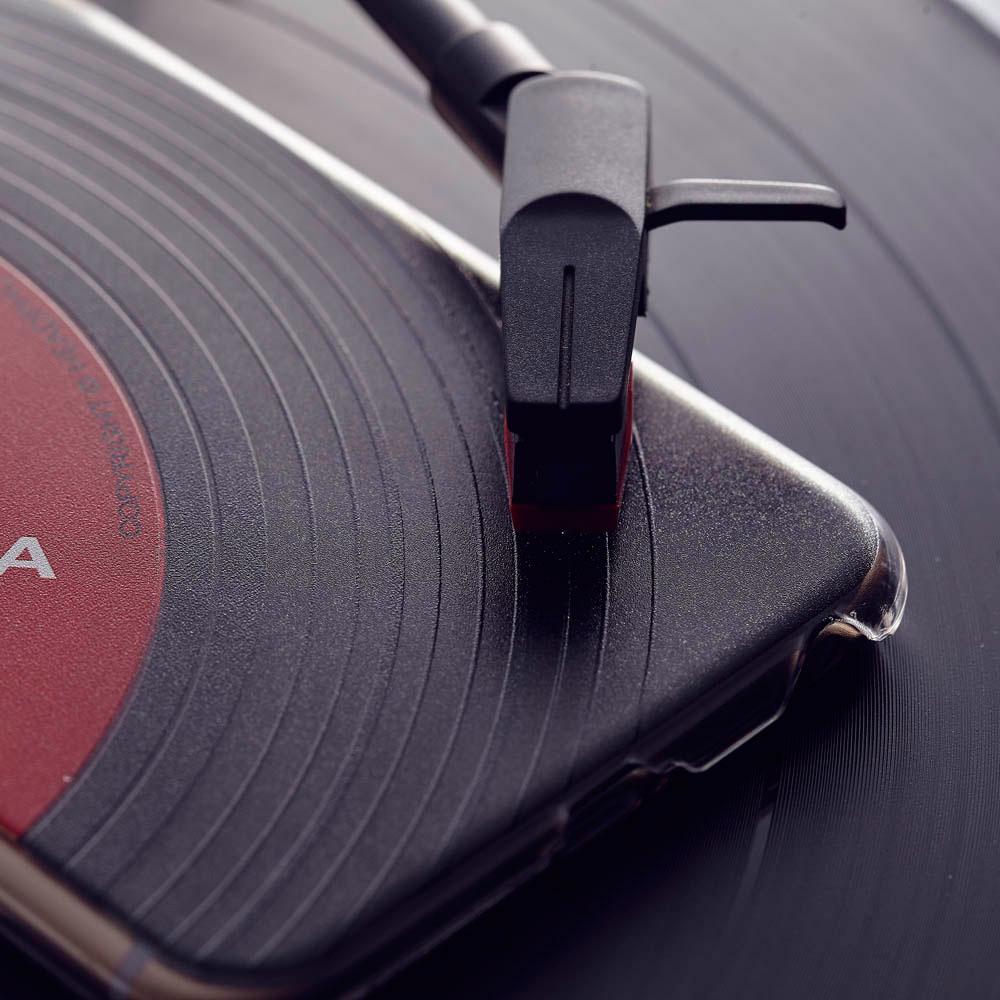 HeadphoneDog 黑膠立體刻紋iPhone手機殼-經典紅