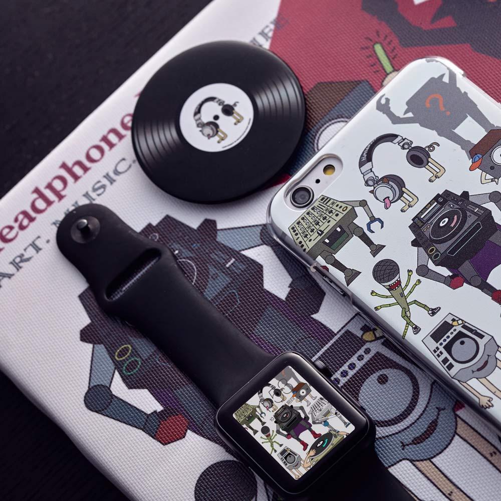 HeadphoneDog|耳機狗音響人手機殼-前衛透明
