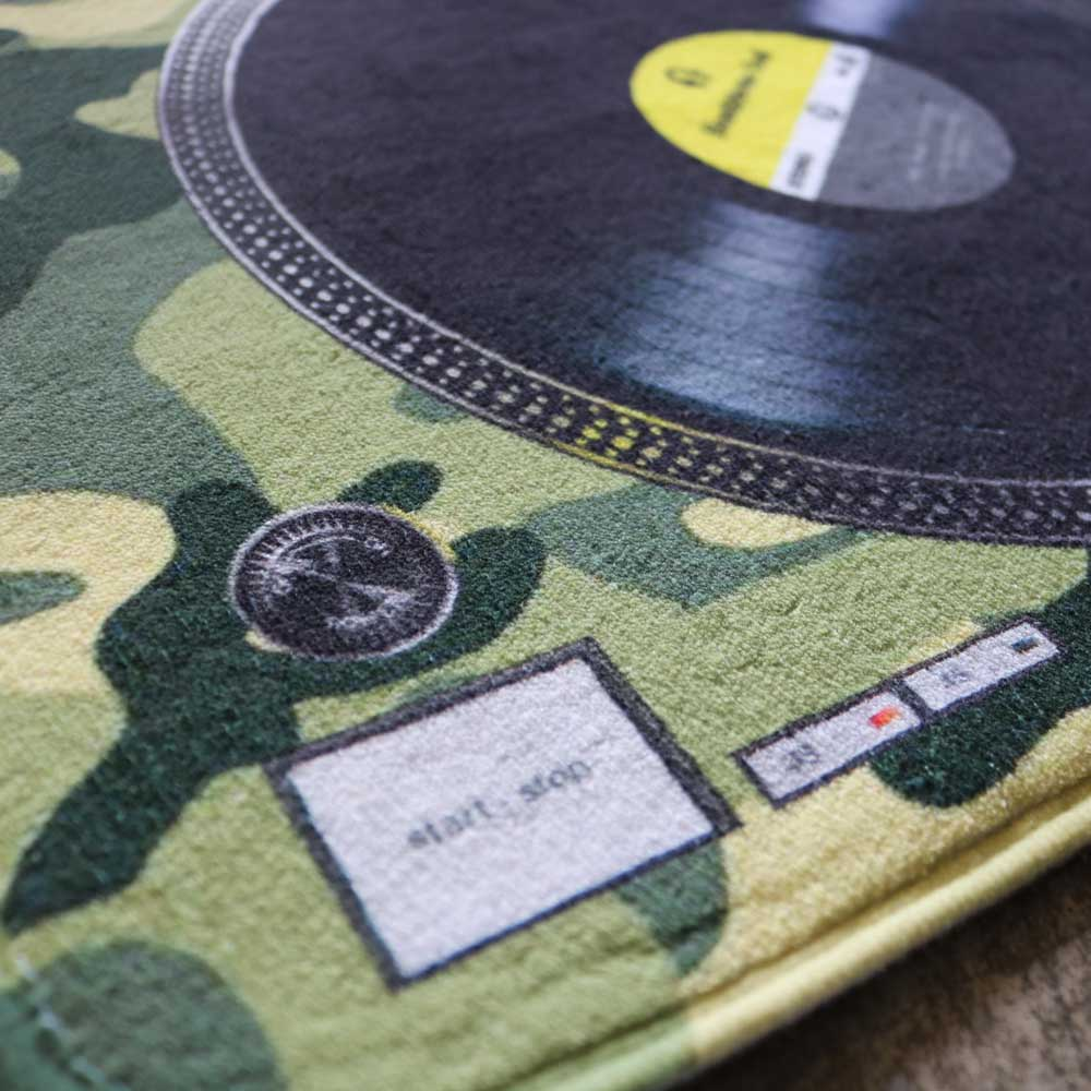 HeadphoneDog 黑膠唱盤地墊/門墊-迷彩綠