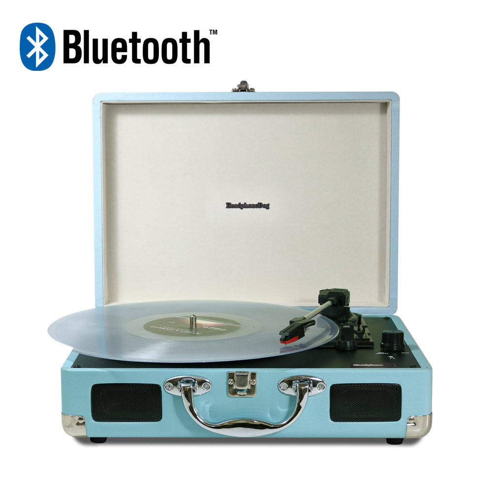 HeadphoneDog|第二代藍牙黑膠唱片播放器-土耳其藍