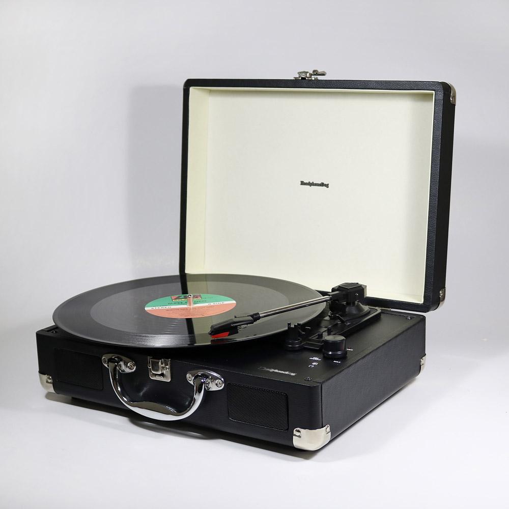 HeadphoneDog|第二代藍牙黑膠唱片播放器-經典黑