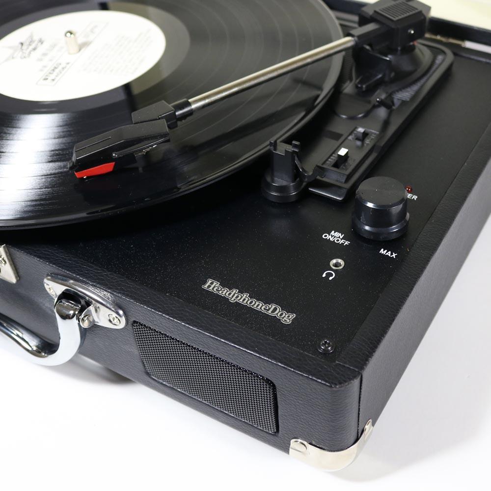 HeadphoneDog|內建喇叭黑膠唱盤播放器-經典黑
