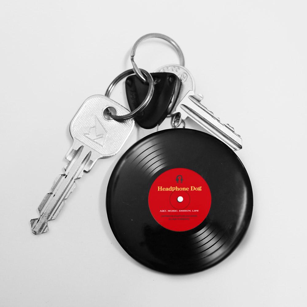 HeadphoneDog|金屬唱片開罐器鑰匙圈-共5款