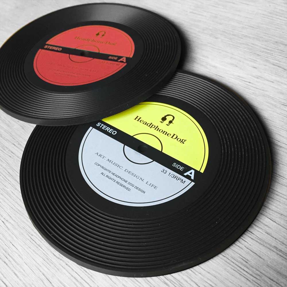 HeadphoneDog|唱片造型耐熱矽膠杯蓋一組(2入)