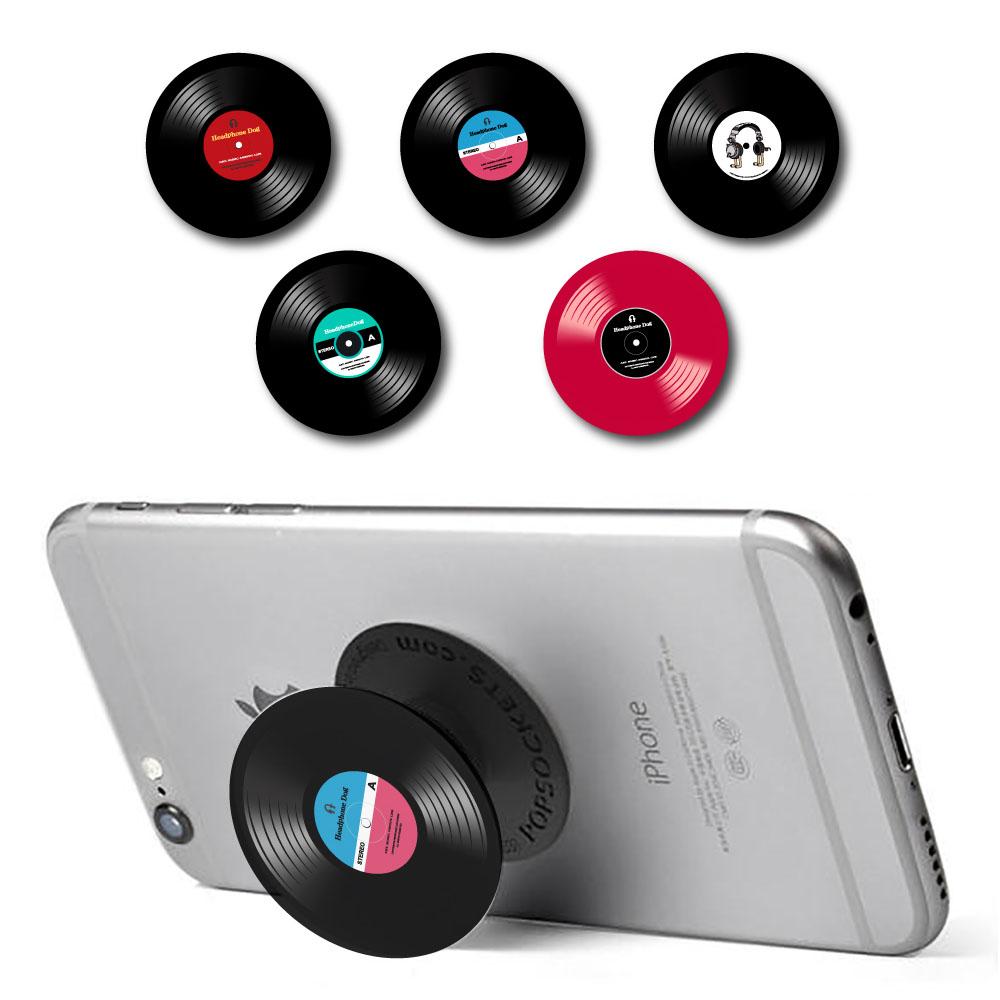 HeadphoneDog 唱片造型手機伸縮支架-附黑膠唱機包裝