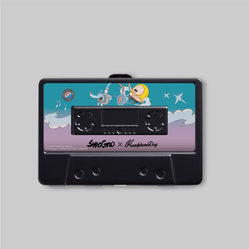 HeadphoneDog 囂搞聯名款金屬卡帶名片盒/錢夾-水手藍