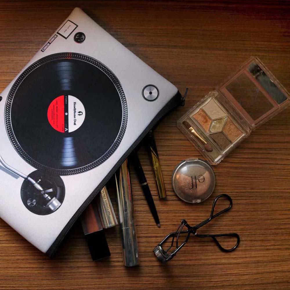 HeadphoneDog|黑白雙色唱盤防潑水吸震手拿包/置物袋
