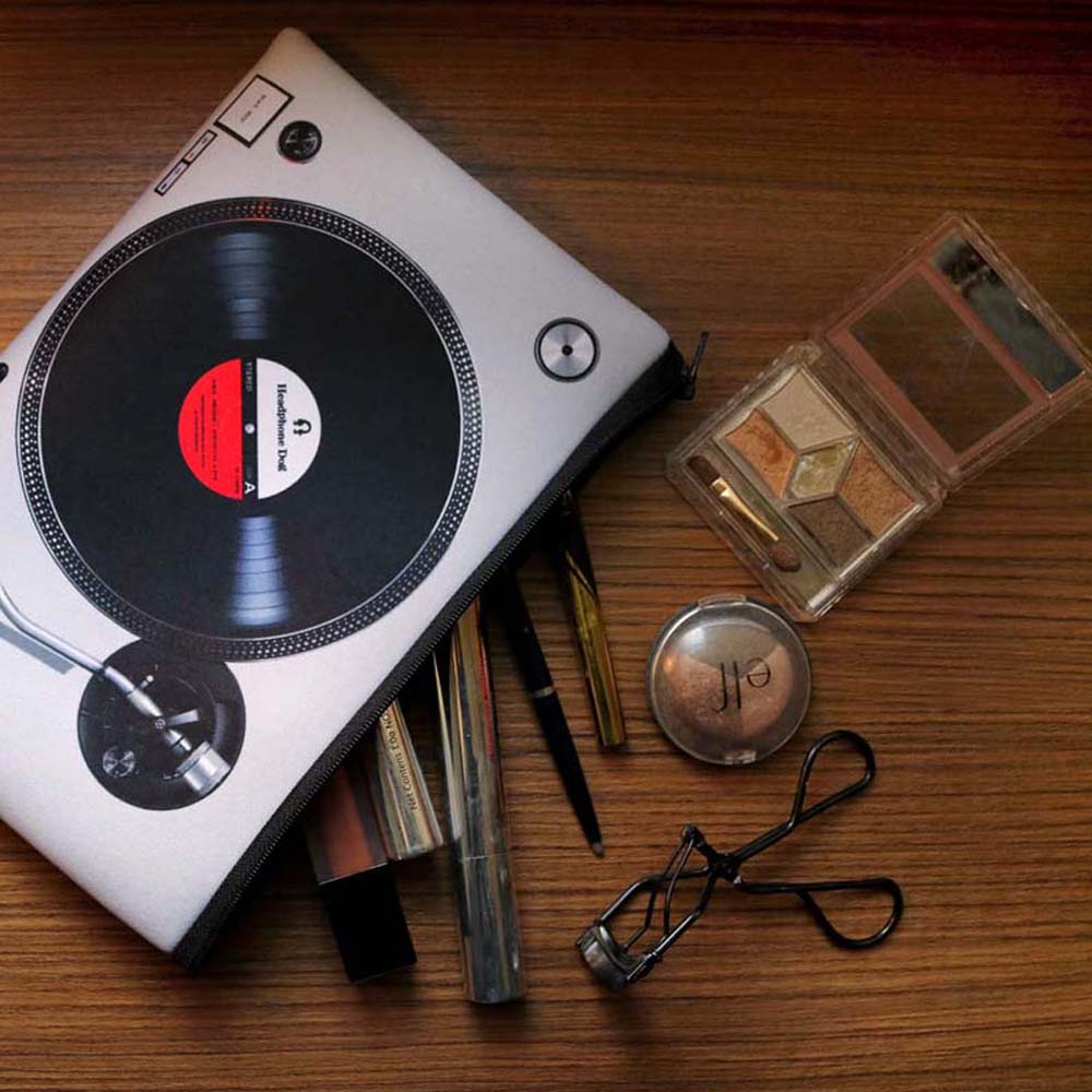 HeadphoneDog 黑白雙色唱盤防潑水吸震手拿包/置物袋