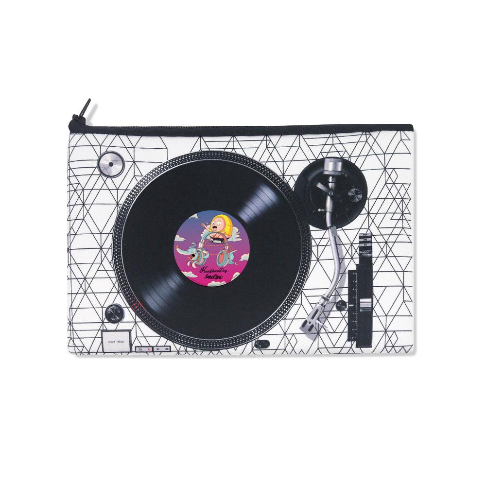 HeadphoneDog 囂搞聯名款-雙色唱盤吸震手拿包/置物袋