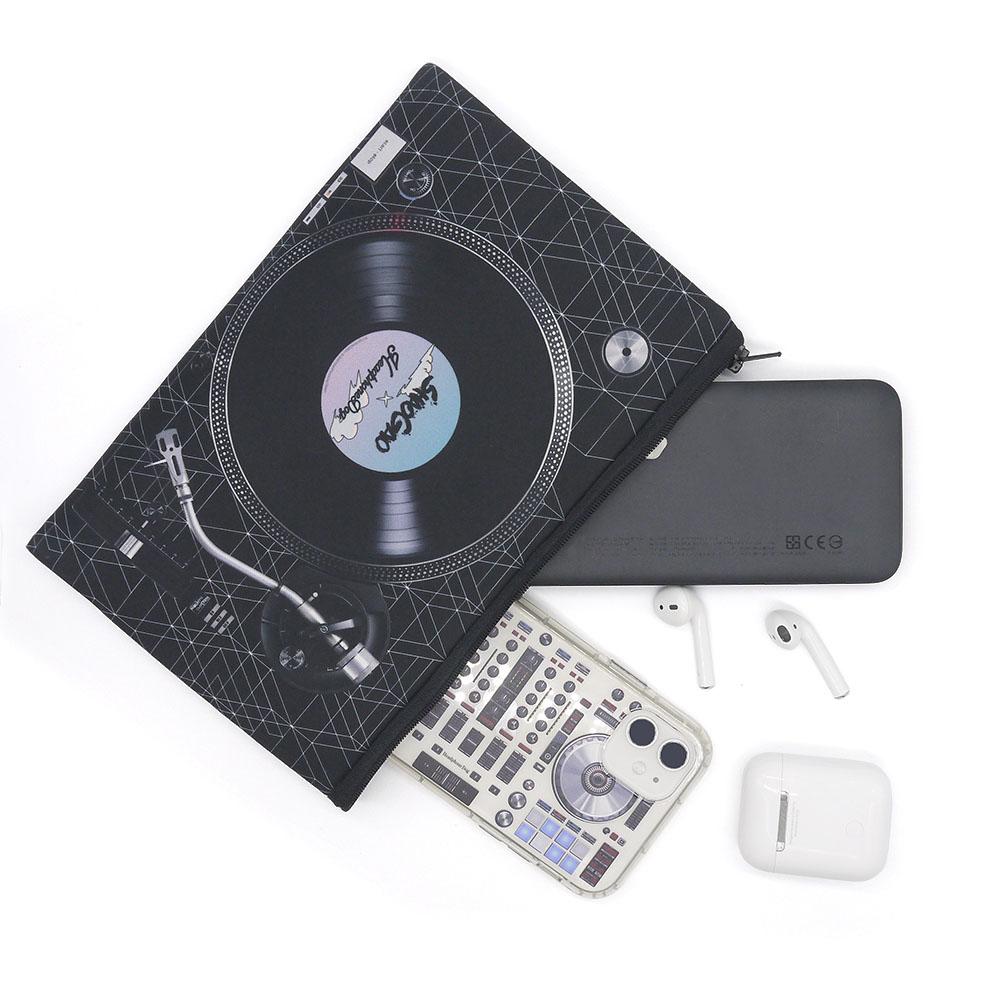 HeadphoneDog|囂搞聯名款-雙色唱盤吸震手拿包/置物袋