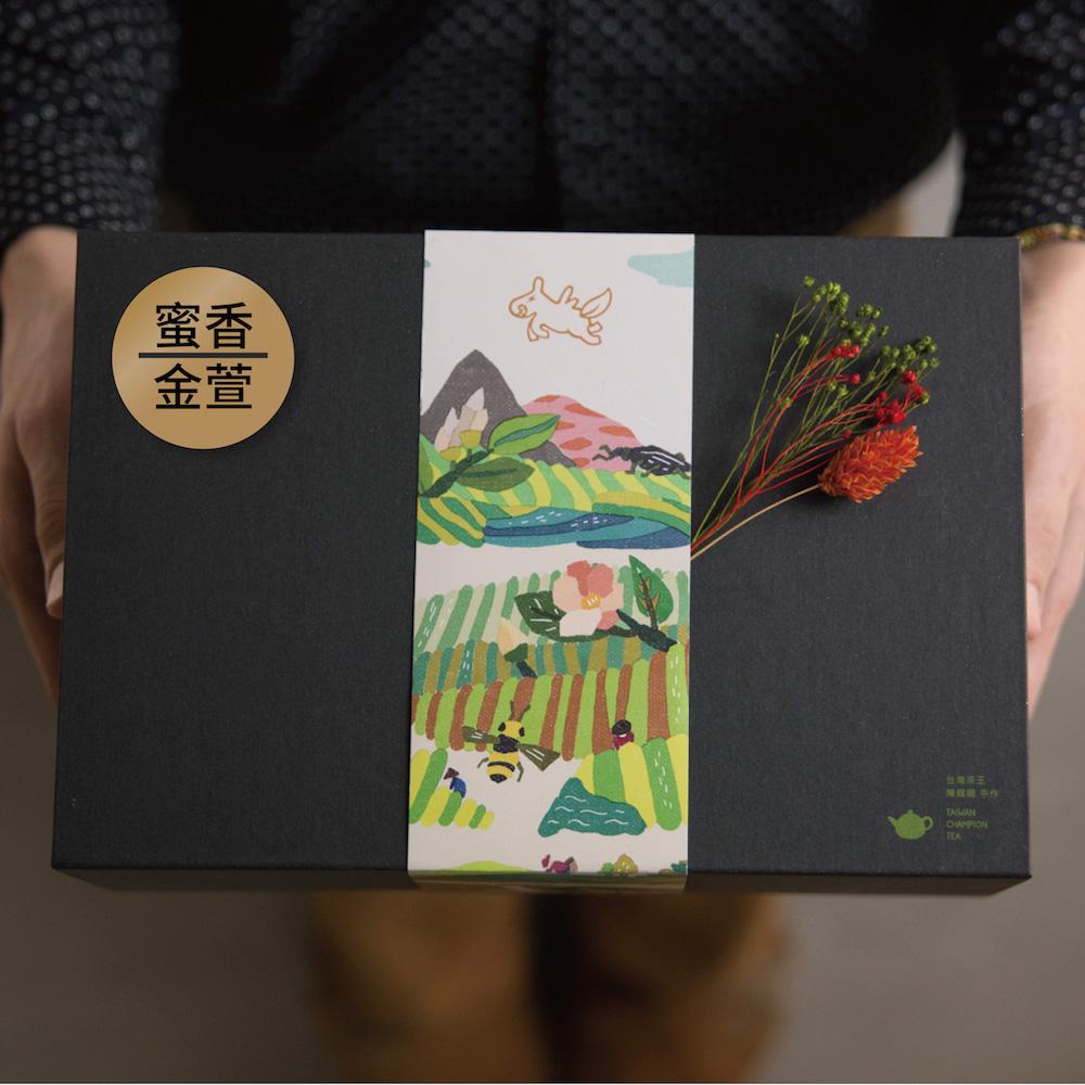 豐茶 台灣茶王手作茶-金萱烏龍+蜜香烏龍 禮盒組