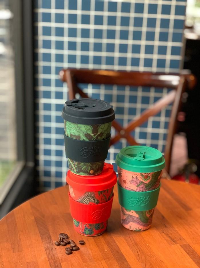 Ecoffee Cup|環保隨行杯14oz-藝術家聯名款(飛天猞猁)