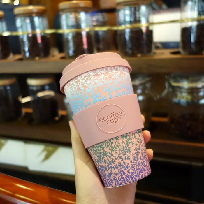 Ecoffee Cup 環保隨行杯14oz-渲染花